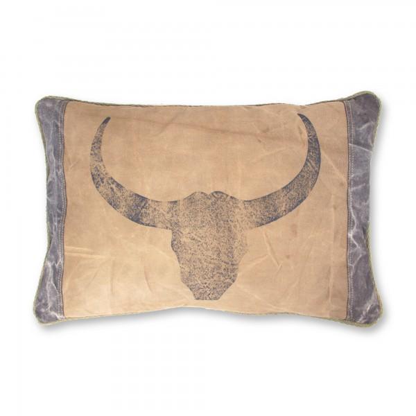 "Kissen ""Taurus"", braun, L 40 cm, B 60 cm"