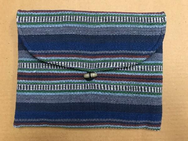 Tablet-Tasche, blau, grau, oliv, T 28 cm, B 21 cm