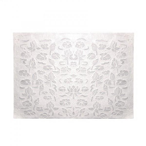 Geschenkpapier Lotus, weiß, T 79 cm, B 53 cm