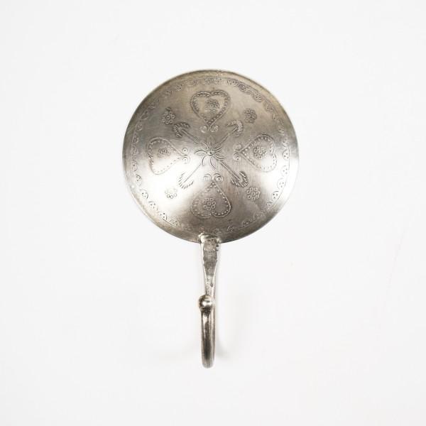 """Wandhaken rund """"Modell D"""", silber, Ø 10 cm"""