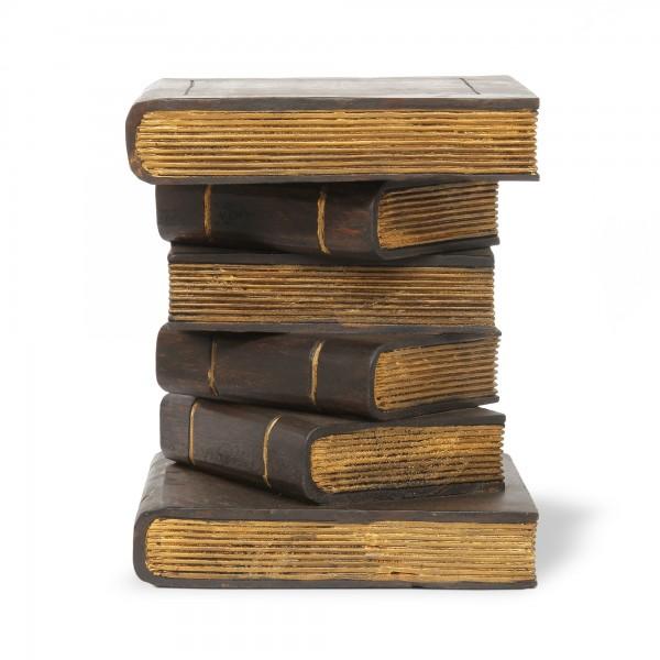 6er Bücherstapel, brauntöne, T 35 cm, B 35 cm, H 34 cm