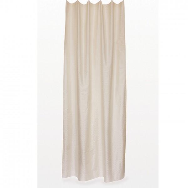 Seidenvorhang mit Schlaufe, creme, L 240 cm, B 130 cm