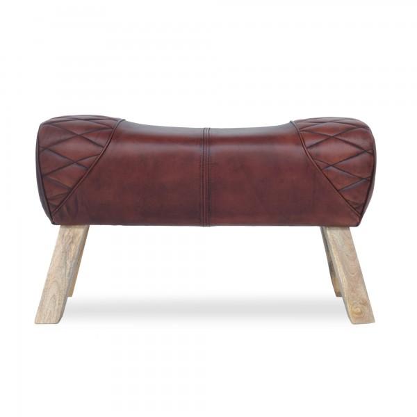 Sitzbock 'Clark', braun, T 83 cm, B 29 cm, H 51 cm