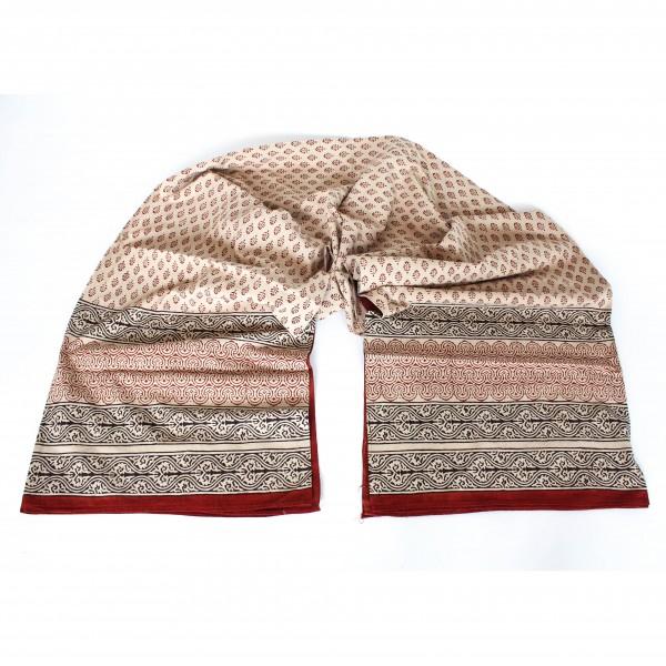 """Tagesdecke """"Bindiya"""", rot/braun/beige, L 260 cm, B 220 cm"""