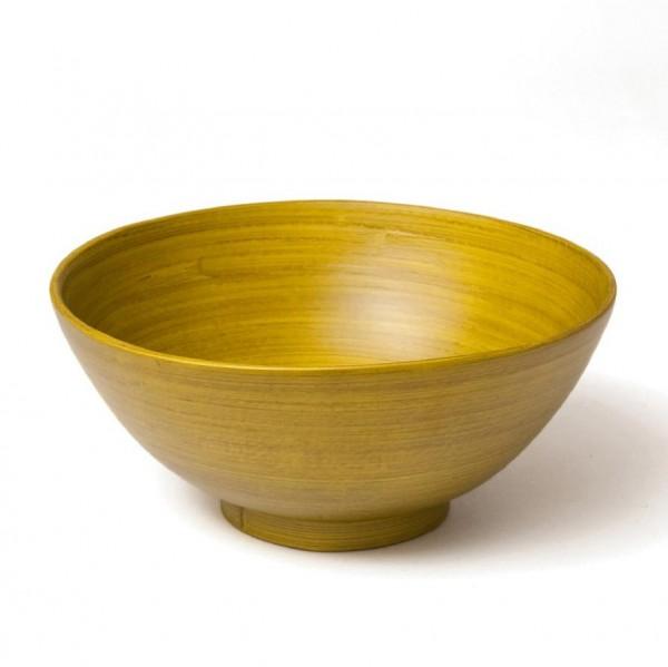 Bambusschale, grün, H 7,5 cm, Ø 16,5 cm