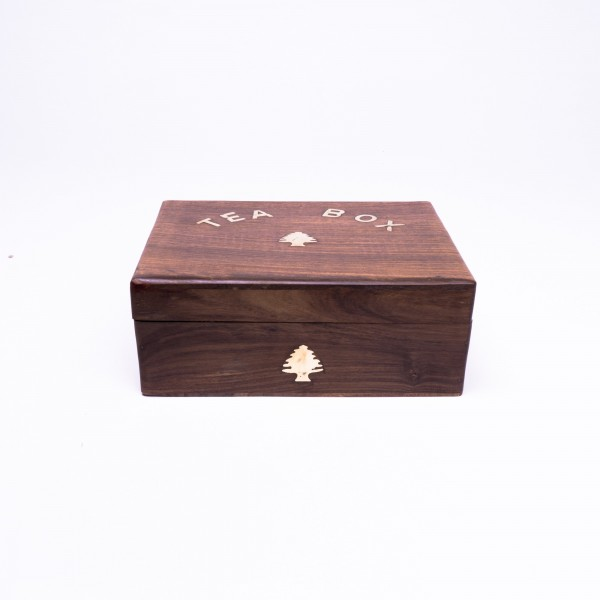 Teebox 'Baum' aus Palisanderholz, braun, L 17 cm, B 23 cm, H 9 cm