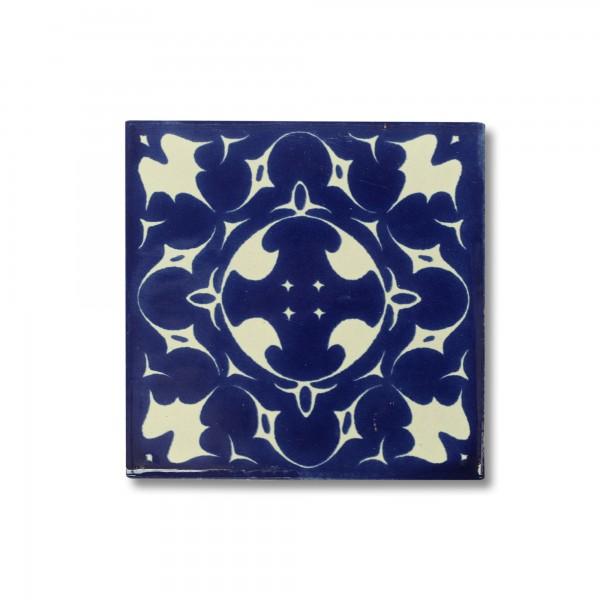 Kachel 'Celaya', blau, weiß, T 10 cm, B 10 cm, H 0,5 cm