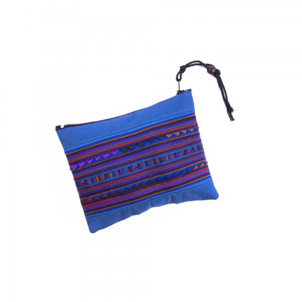 Täschchen mit Reißverschluss, blau, L 14 cm, H 10 cm