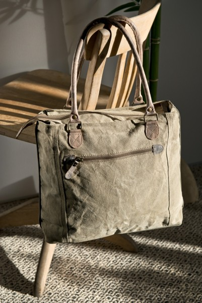 Tasche 'Marine Coop', beige, grau, T 10 cm, B 43 cm, H 32 cm
