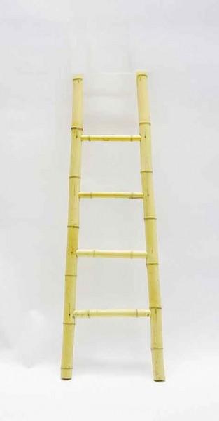 Bambusleiter 4 Stufen, natur, H 150 cm