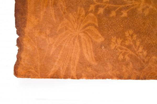 Geschenkpapier 'Blumen' handgeschöpft, braun, L 76 cm, B 50 cm
