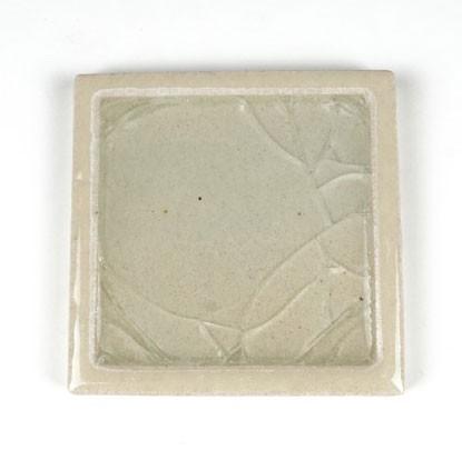 Handglasierte Fliese, aus Thailand, L 10 cm, B 10 cm