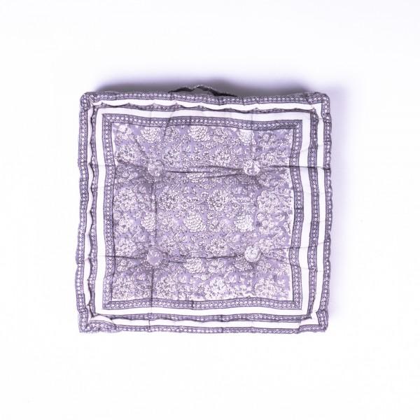 Sitzkissen 'Tarak', manuelles Blockprintverfahren, L 40 cm, B 40cm, H 8 cm