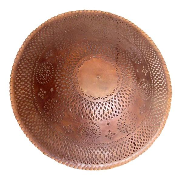 Deckenleuchte 'Iskandar', braun, H 30 cm, Ø 80 cm