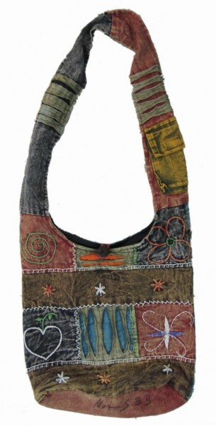 Cross-Over-Bag Symbols, multicolor, B 32 cm, H 37 cm