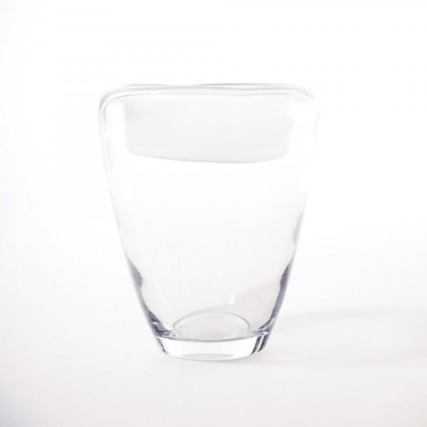 Glasvase, klar, Ø 18 cm, H 20 cm