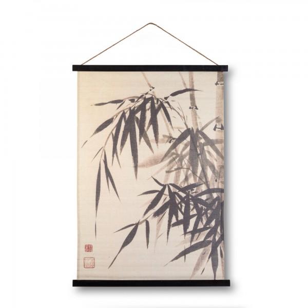 Rollbild auf Leinwand 'Bamboo', multicolor, T 2 cm, B 65 cm, H 90 cm