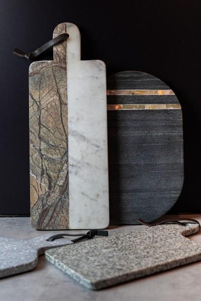 Schneidebrett 'Ravil', schwarz, T 30 cm, B 20 cm, H 1,3 cm