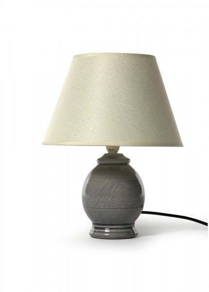 Tischlampe 'Dieben', grau/beige, Ø 12 cm, H 33 cm