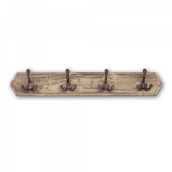 4er Wandhaken, H 10,5 cm, B 60 cm, T 6,5 cm