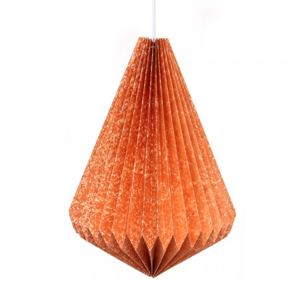 Papierlampe, antik orange, Ø 34 cm, H 43 cm