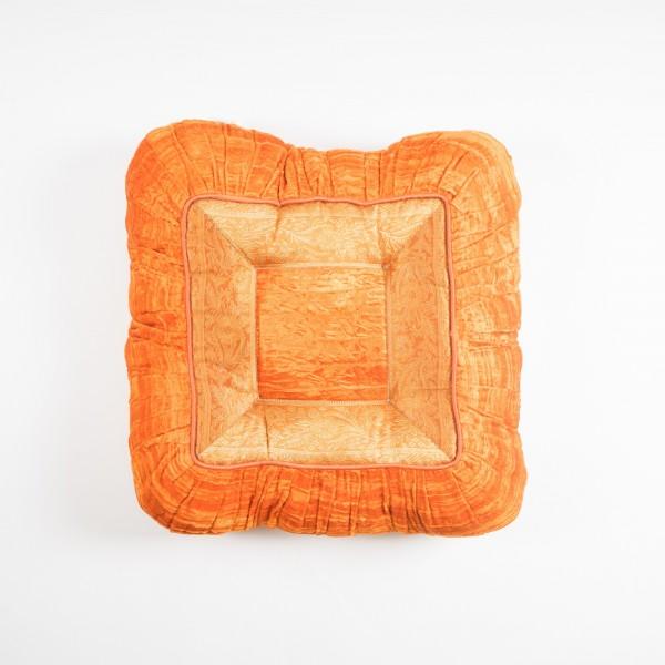 Sitzkissen, orange, L 40 cm, B 40 cm, H 8 cm