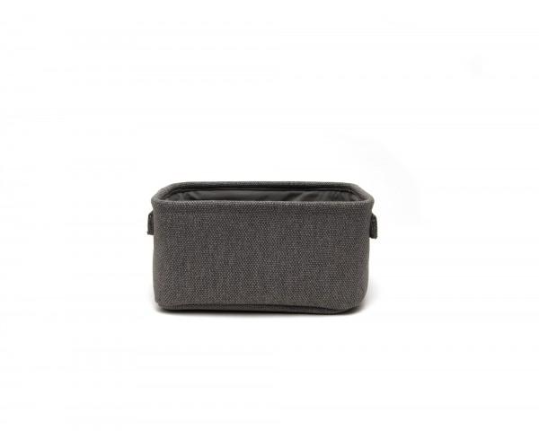 Box 'Lorient' S, dunkelgrau, T 16 cm, B 26 cm, H 12 cm