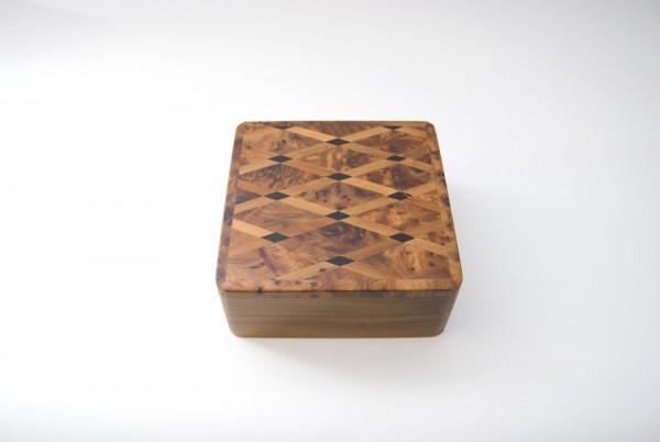 Thuja Box Raute, braun, T 13 cm, B 13 cm, H 5 cm