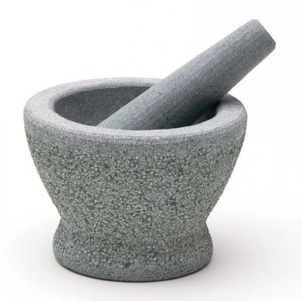 """Mörser """"Pesto"""", grau/weiß, H 10,5 cm, Ø 14,5cm"""