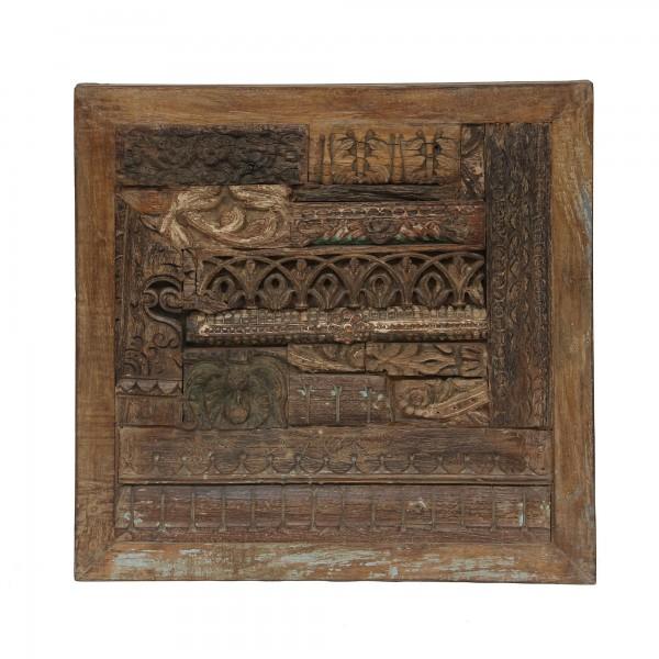 hölzerndes Wandbild, natur, T 6 cm, B 65 cm, H 65 cm