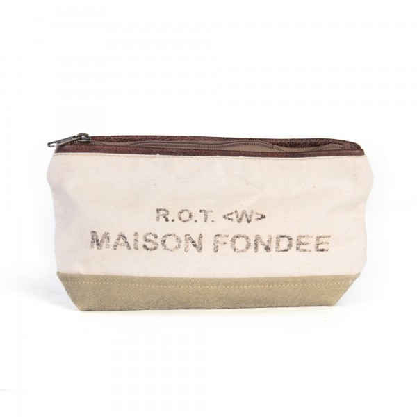 "Etui ""Maison Fondee"", beige, B 28 cm, H 17 cm"