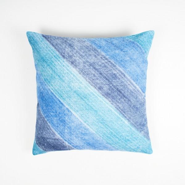 """Kissenhülle """"Regen"""", blau, L 45 cm, B 45 cm"""