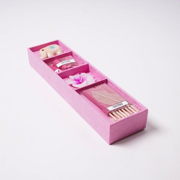 Mini-Räucherset 'Orchid', pink