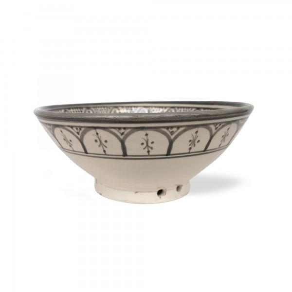 Zierschale Safi, grau, weiß, Ø 20 cm, H 9 cm