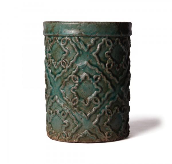 "Keramikbehälter ""Clave"", türkis, Ø 15 cm, H 20 cm"