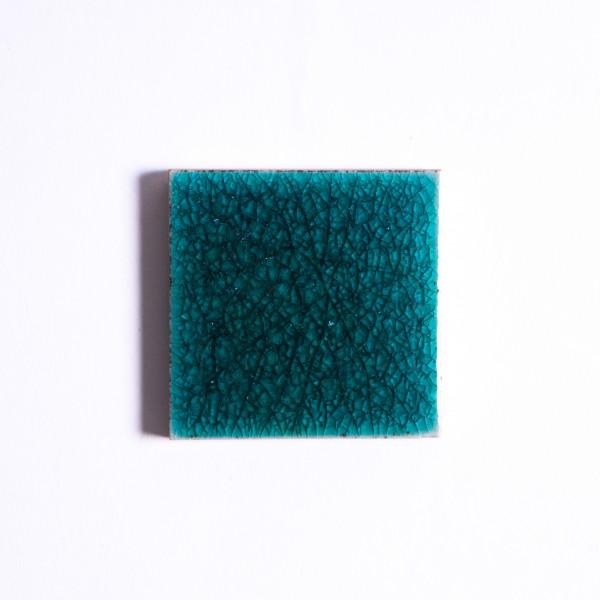 Fliese 'Craquele', nachtgrün, L 5 cm, B 5 cm