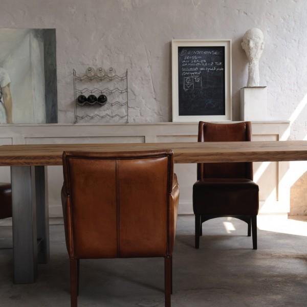 Tisch 'Römö', natur, grau, L 180 cm, B 90 cm, H 78 cm