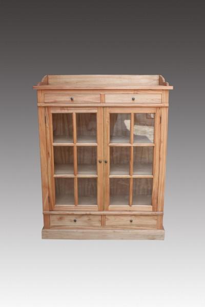 Küchenschrank, 2 Türen, 4 Schubladen, braun, T 47 cm, B 120 cm, H 155 cm