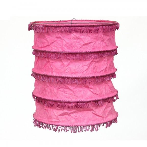 Papierlampe, pink, Ø 29 cm, H 30 cm