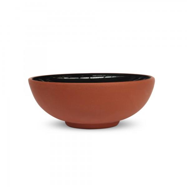 Schüssel Terrakotta, natur, schwarz, Ø 11 cm, H 5 cm