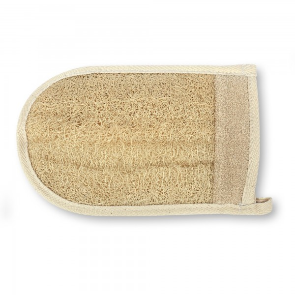 Luffa-Handschuh, natur, T 24 cm, B 16 cm