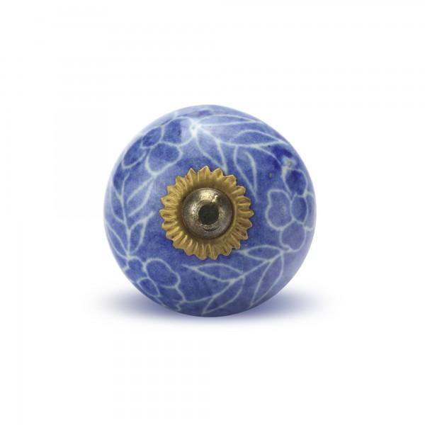 Türknauf rund, blau, Ø 4 cm