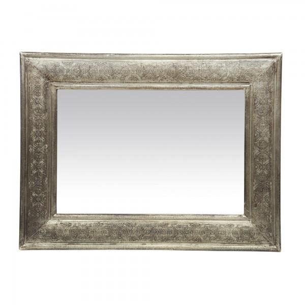 Spiegel mit Metallrahmen antik, silbergrau, T 3 cm, B 45 cm, H 60 cm