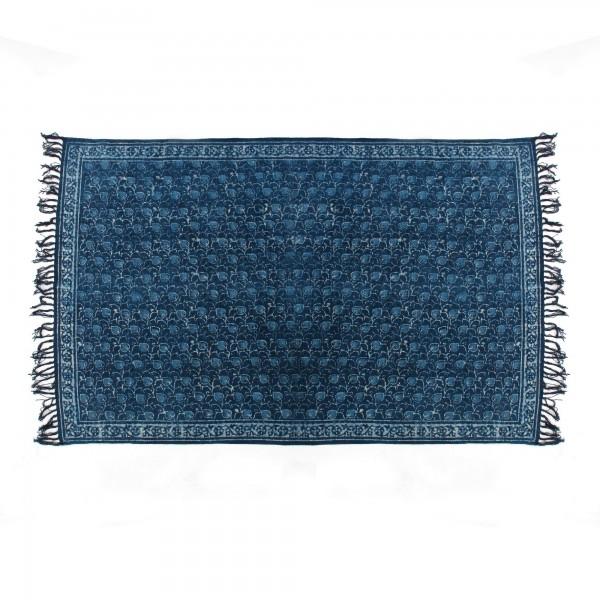 Teppich 'Tropfen', blau, weiß, T 140 cm, B 200 cm