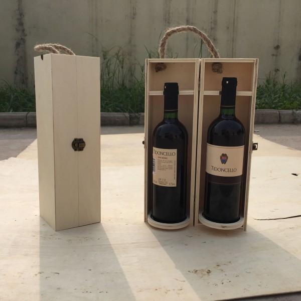Weinflaschenbox, aus Sperrholz