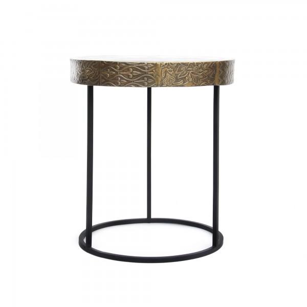 Tisch 'Richmond', messing, schwarz, Ø 45 cm, H 51 cm