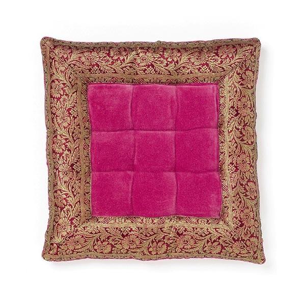 Kissen quadratisch, lila/pink, L 40 cm, B 40 cm, H 8 cm