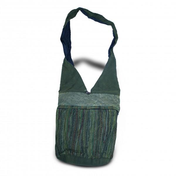 Beuteltasche, grün, L 33 cm, B 31 cm