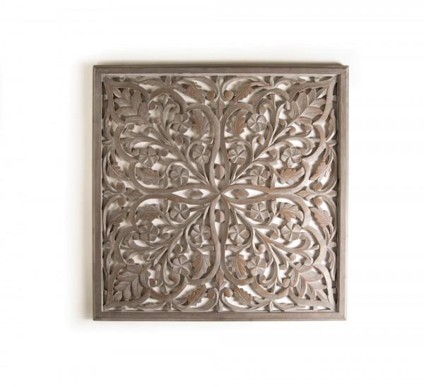 Wandpanel 'Larisse', grau, T 2 cm, B 90 cm, H 90 cm