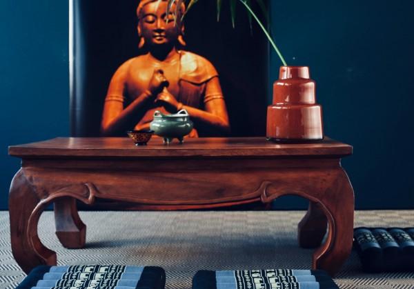 Opiumtisch, natur, T 50 cm, B 100 cm, H 41 cm